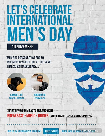 International Men's Day Poster