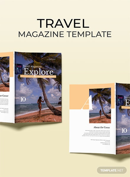 Free Travel Magazine Template