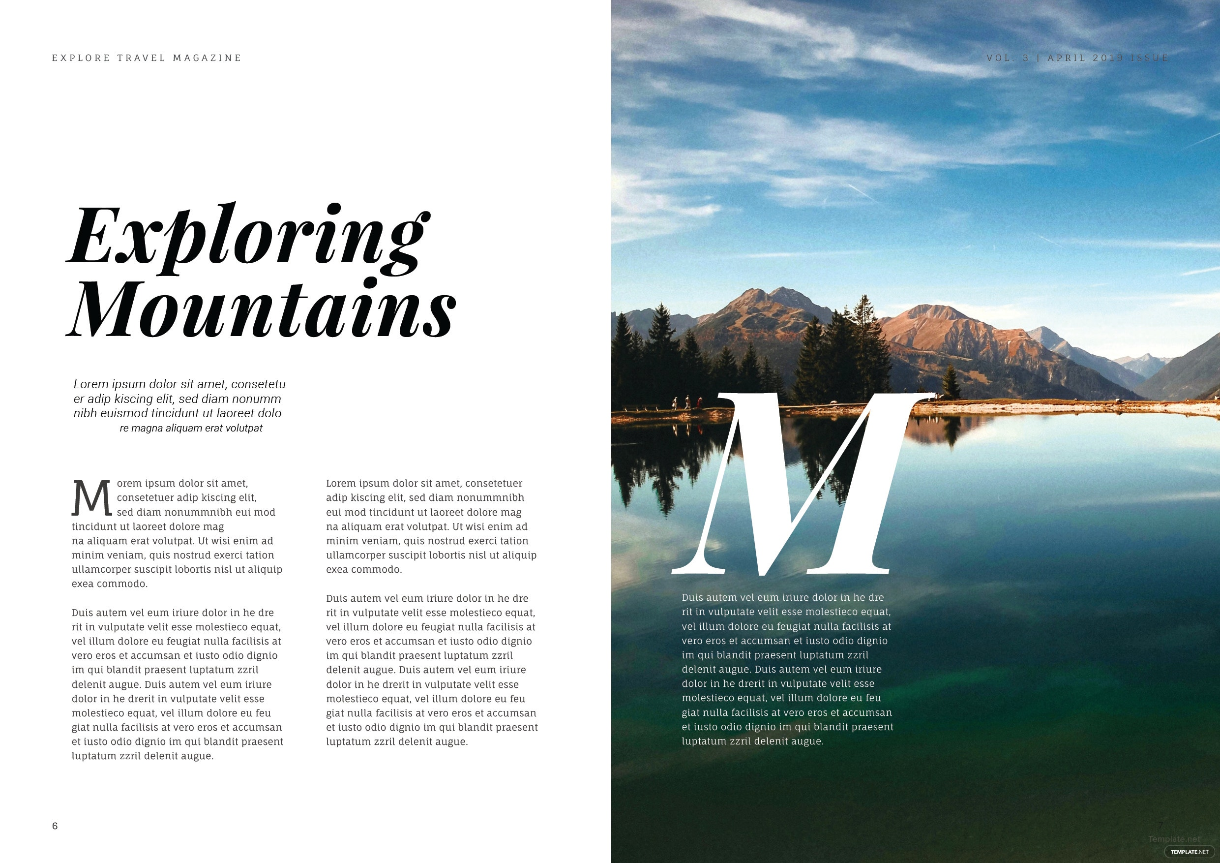 free travel magazine template in adobe indesign