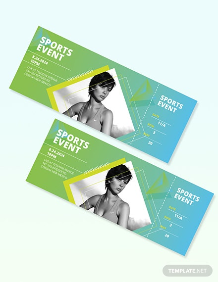 Sample Sporting Event Ticket