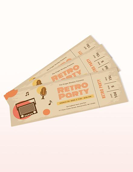 Vintage Ticket Template