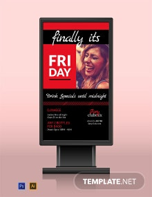 After Work Parties Digital Signage Template