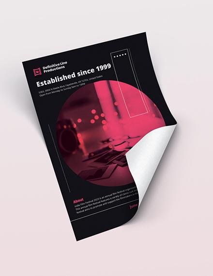 Sample Movie Flyer