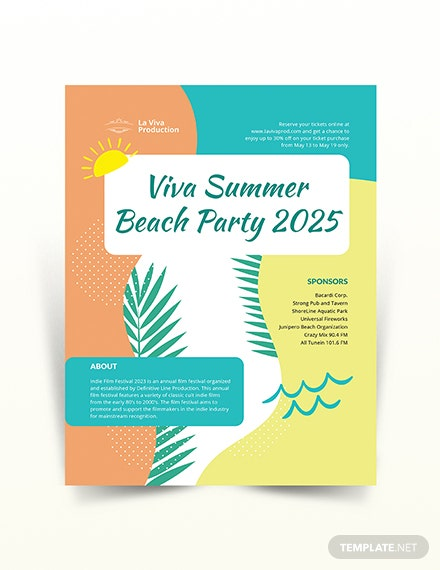 party event flyer template 2