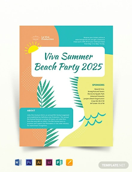 Party Event Flyer Template