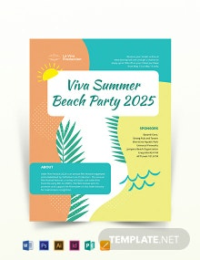 Free Party Event Flyer Template