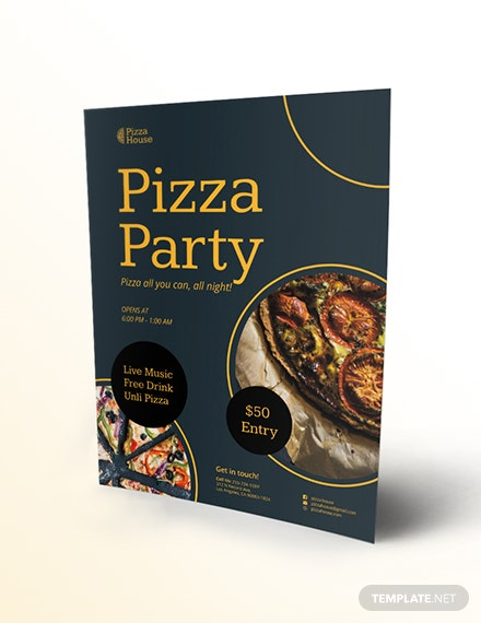 Pizza Party Flyer Download
