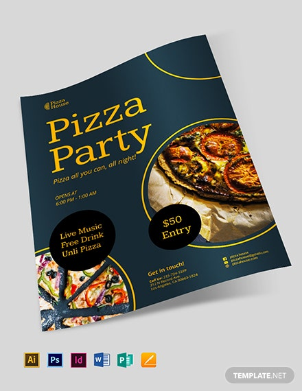 sample pizza party flyer 1