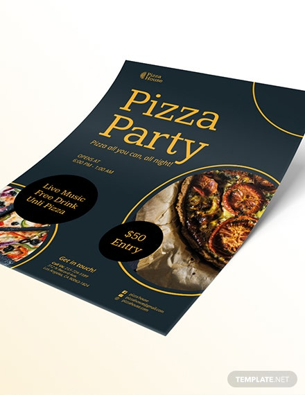 Sample Pizza Party Flyer