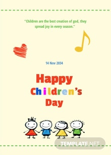 Children's Day Greeting Card Template
