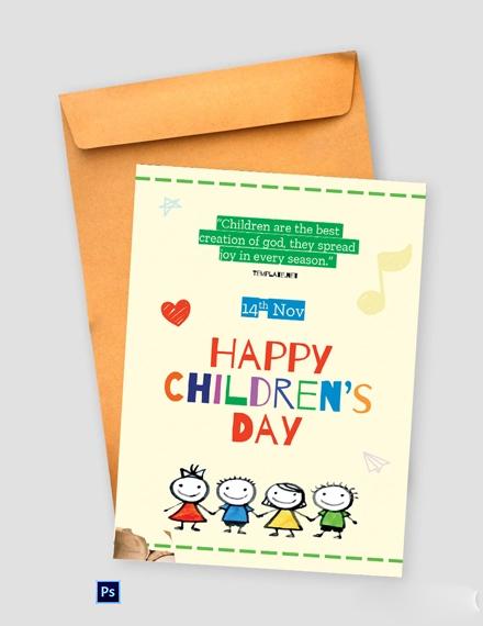 Children's Day Greeting Card