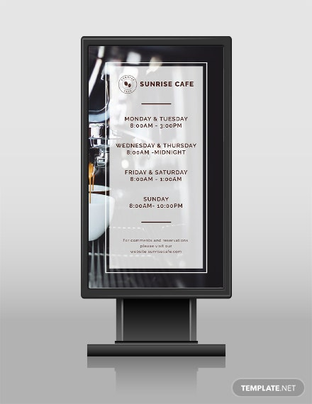 28 free digital signage templates download ready made template free business hours digital signage template cheaphphosting Image collections