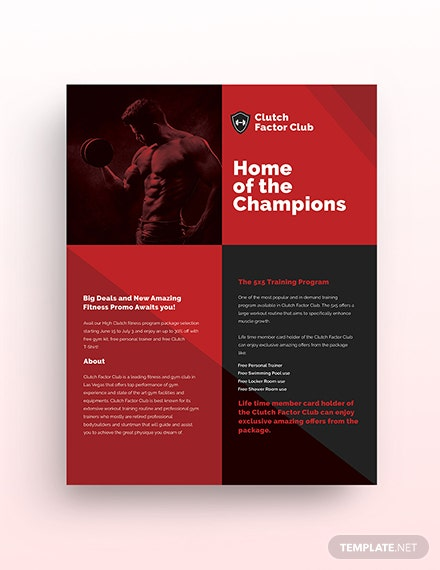 gym flyer template 3