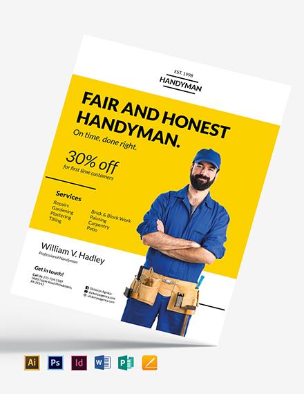 handyman flyer template download 78 flyers in microsoft word
