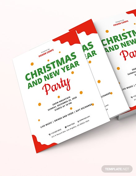 Christmas  New Year Party Flyer Download