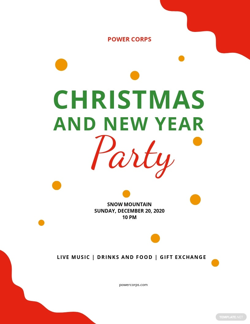 Christmas  New Year Party Flyer Template.jpe