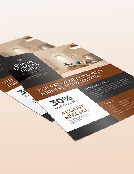 Hotel Promotional Flyer Download