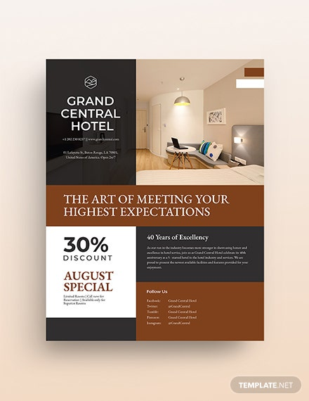 hotel promotional flyer template 1
