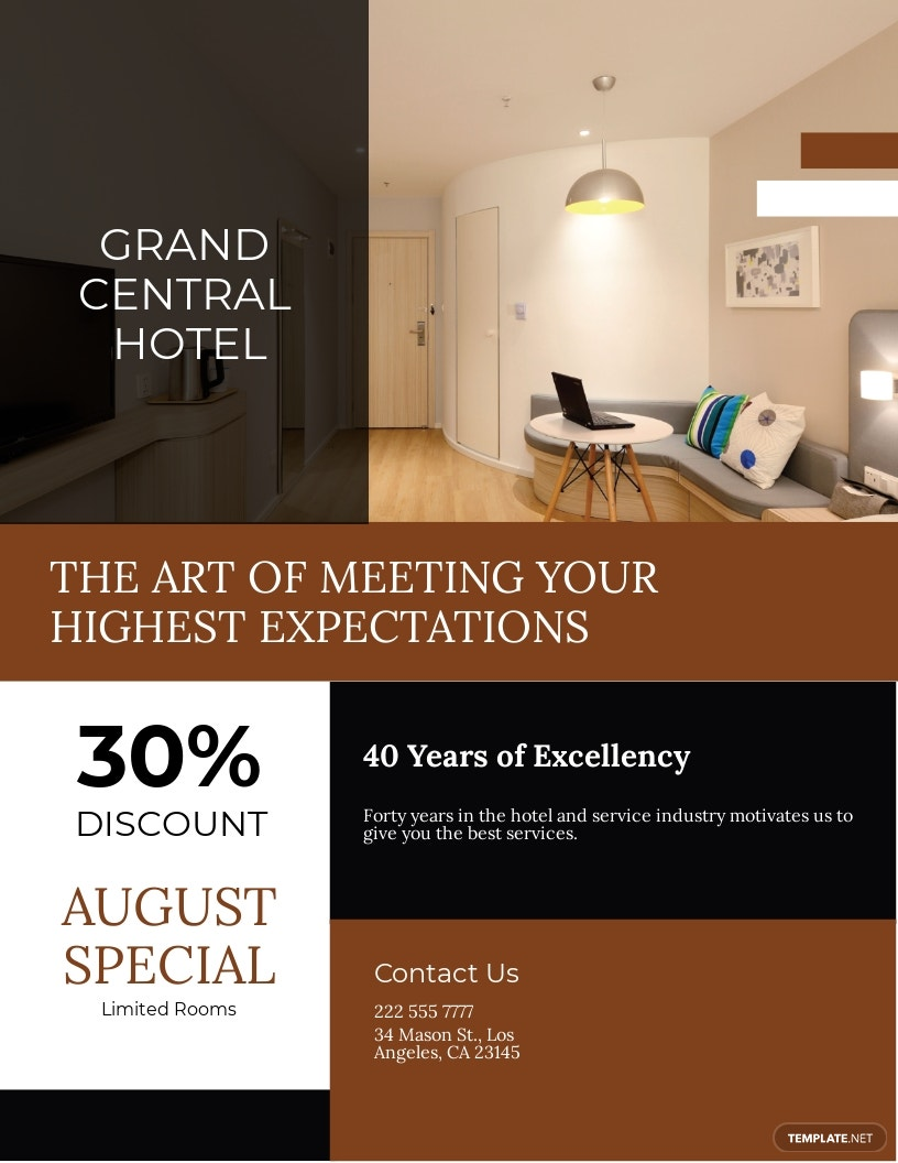 Hotel Promotional Flyer Template.jpe