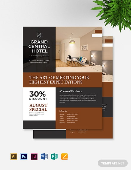 hotel promotional flyer template