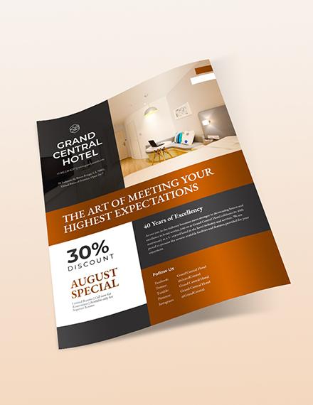 Sample Hotel Promotional Flyer