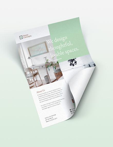 Interior Design Flyer Download