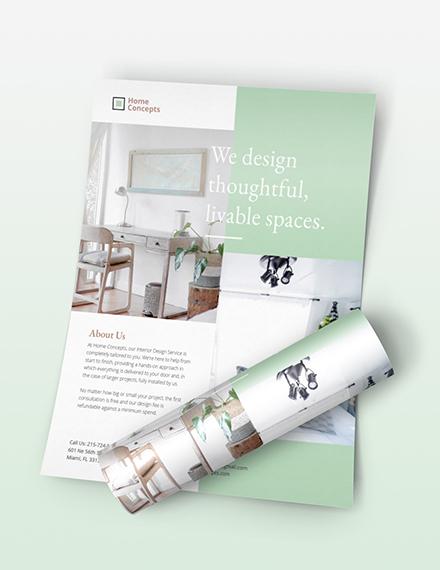 Sample Interior Design Flyer