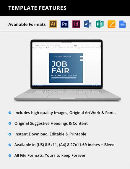 Editable Job Fair Flyer