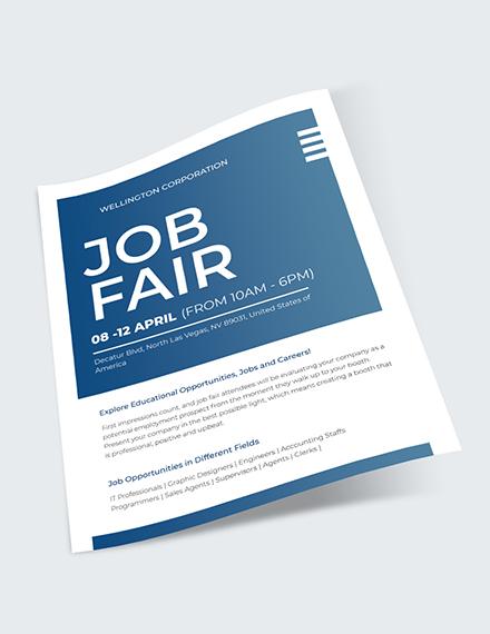 Sample Job Fair Flyer