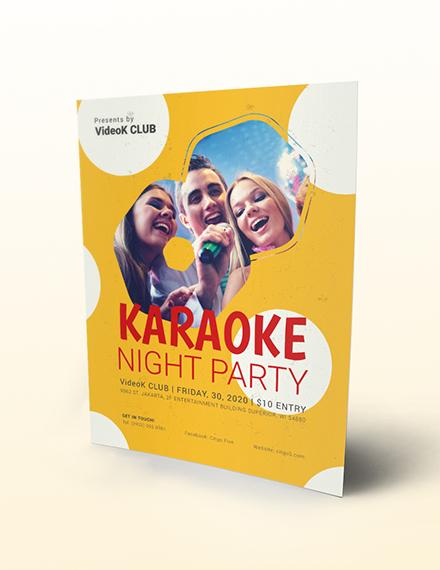 Karaoke Party Flyer Download