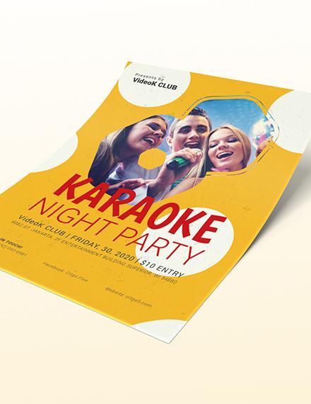 Sample Karaoke Party Flyer