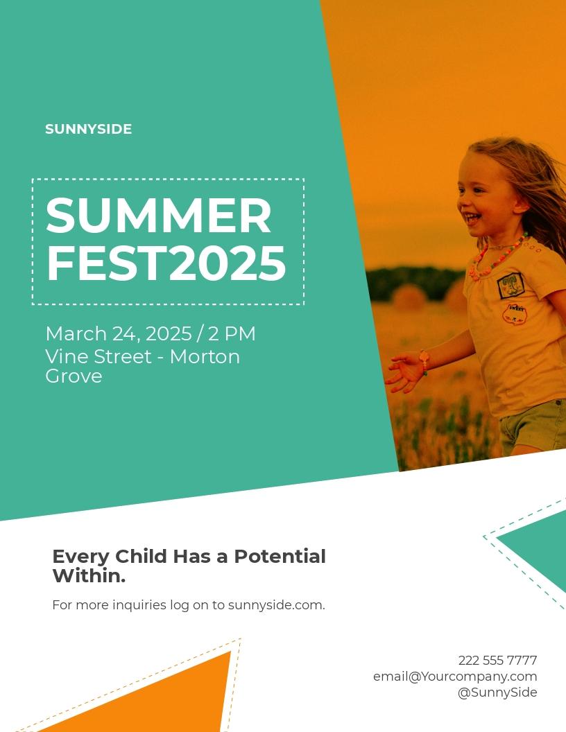 Kids Summer Fest Flyer Template