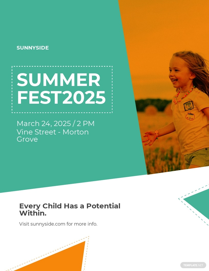 Kids Summer Fest Flyer Template
