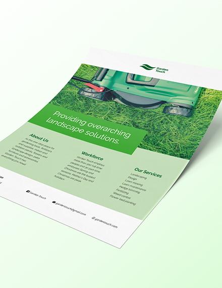 Sample Landscaping Flyer