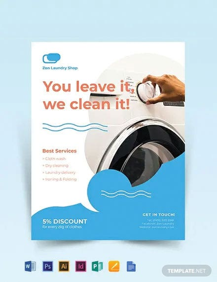 Laundry Flyer Template