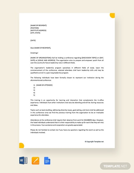 Free Formal Excuse Letter