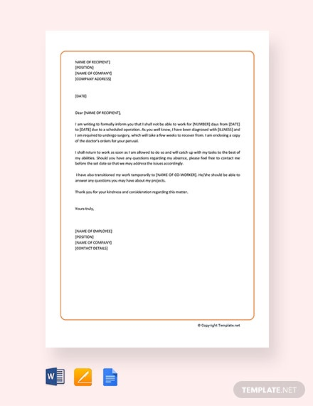 Free Formal Excuse Letter for Employee