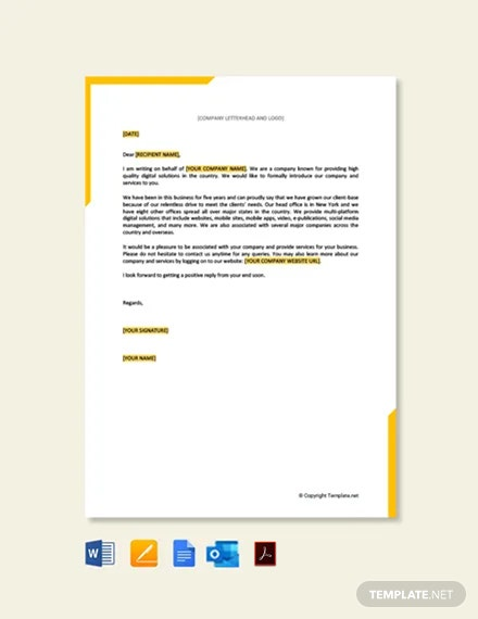 Business Proposal Letter for Service Template