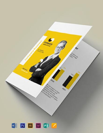 A5 Half Fold Brochure Template