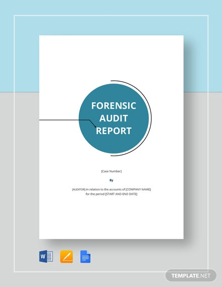 Forensic Audit Report Template