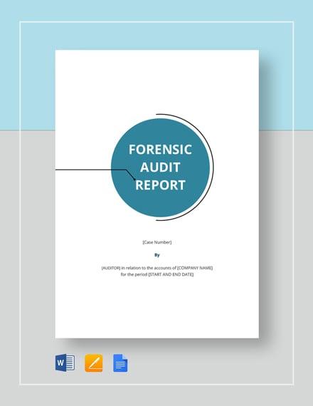 9+ Forensic Audit Report Templates - PDF, Word, Google Docs