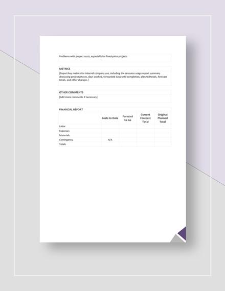 Management Report Download