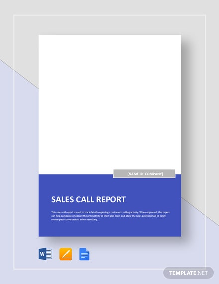 sales call report 2