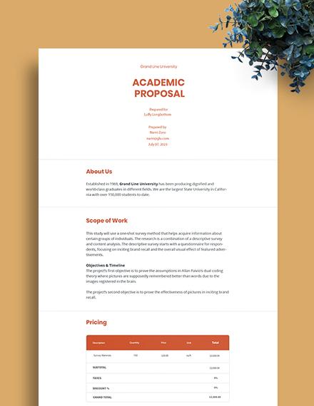 Academic Proposal Template