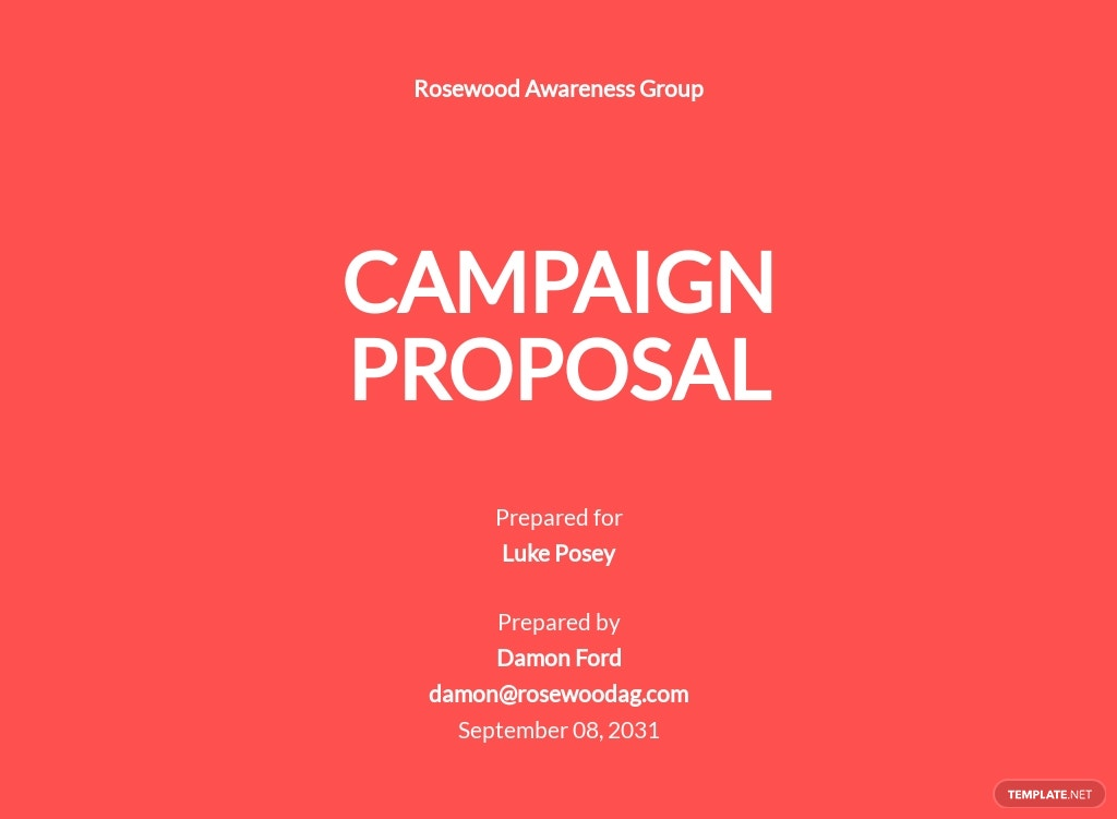 Campaign Proposal Template