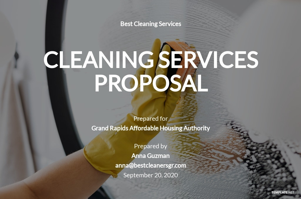Cleaning Business Proposal Template