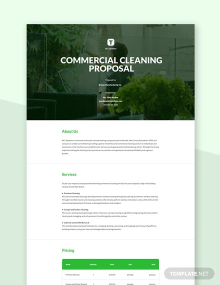 Editable Cleaning Service Proposal Template