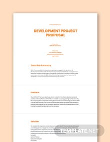 Development Project Proposal Template