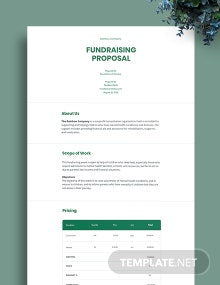 Fundraising Proposal Template