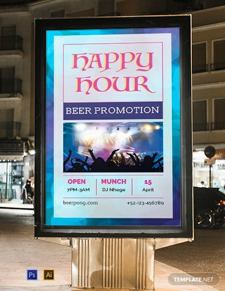 Free Happy Hour Digital Signage Template